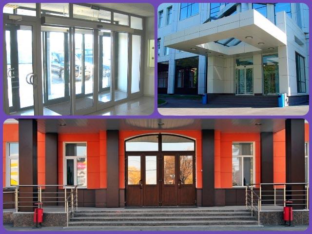 Способы оформления входа в здание