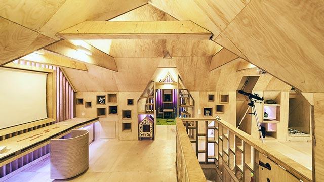 Фанера в дизайне загородного дома
