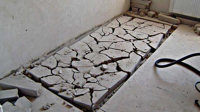 Разбитый бетон